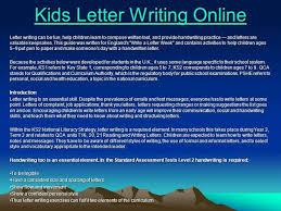 kids letter writing online authorstream