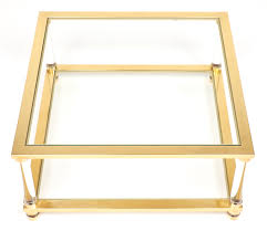 Mathis Brothers Coffee Tables by Mid Century Lucite Brass Glass Coffee Table Jean Marc Fray