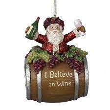kurt adler 4 inch polyresin santa on wine barrel