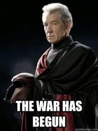 Magneto Meme - the war has begun ominous magneto quickmeme
