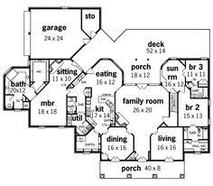 open floor house plans one story michael lkin l1965 on