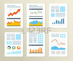 set of flyer brochure design templates financial report and