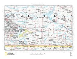 South Dakota In Usa Map by Bad River White River Drainage Divide Area Landform Origins