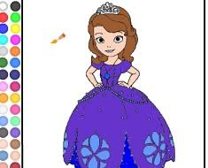 coloring princess sofia coloring games