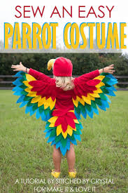 a tutorial to sew an easy parrot costume perfect for halloween or