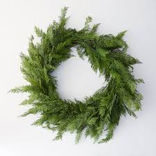 faux cedar full wreath terrain