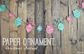 diy garland with paper ornaments darice