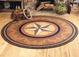 Western Throw Rugs Gilded Star Rug 8 Ft Round