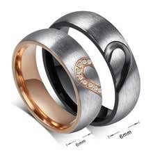 couples ring sets titanium heart couples ring set with inlay