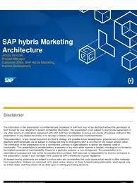 01 sap hybris marketing architecture complete 1602 sap se