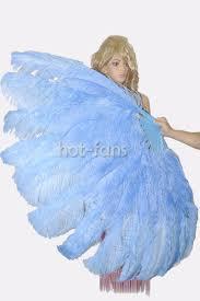 ostrich feather fans sky blue xl 2 layers ostrich feather fan burlesque dancer friends