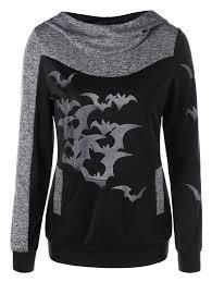 halloween area rugs heather gray m halloween marled bat print hoodie rosegal com