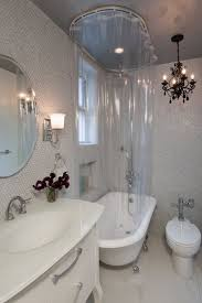 Roll Top Bath Shower Curtain Rail 41 Best Shower Curtains And Tracks Images On Pinterest Shower