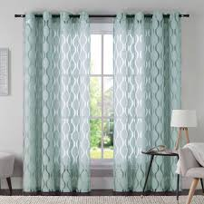 vcny aria 95 inch window curtain panel in aqua bedroom