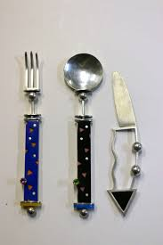m j cohen flatware modern museum sterling gemstone serving
