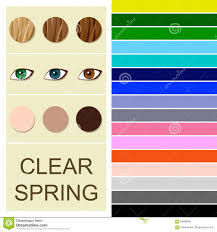 spring color stock seasonal color analysis palette for clear spring type stock
