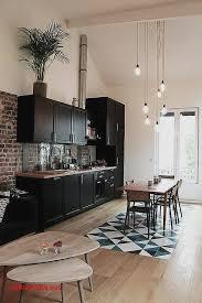 cuisine et salon dans la meme cuisine appartement moderne pour idees de deco de cuisine