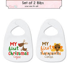 thanksgiving bib my christmas bib my thanksgiving bib by sweetteezllc