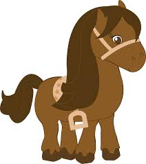 baby animal clipart brown horse pencil and in color baby animal