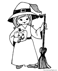 free coloring witches kids coloring