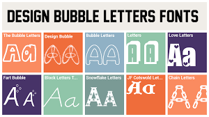 design bubble letters fonts design bubble font