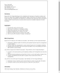 Sample Resume Summaries by Professional Full Charge Bookkeeper Templates To Showcase Your