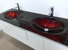 latest modern bathroom design with funky double basin wall hung