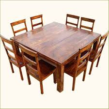 rustic square dining table appalachian wood rustic square 9pc dining table and chair square