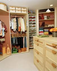 exciting wardrobe design with neatly clothing storage racks also