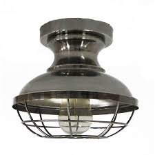 Flush Mount Lighting Fixtures Allen Roth 8 4 In W Antique Nickel Metal Semi Flush Mount Light