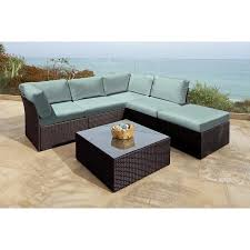 Outdoor Furniture Sectional Sofa 6 Pc Newport Jacobean Resin Wicker Outdoor Furniture Sectional