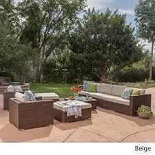 amazon com cortez sea 9 piece outdoor wicker furniture sectional