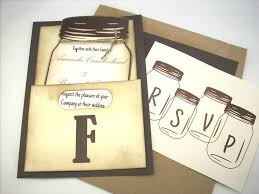 jar invitations jar wedding invitations with rsvp cards 36 best wedding
