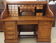 Roll Top Antique Desk America Antique Desks 1900 1950 Ebay