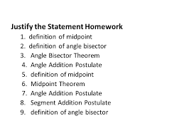Segment Addition Postulate Worksheet Section 2 5 Proving Angles Congruent Ppt