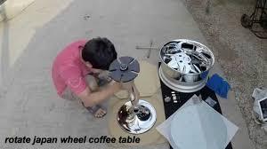 rotate japan wheel coffee table youtube