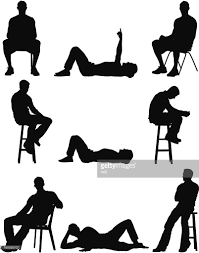 Office Chair Vector Side View Silhouette Of People In Different Poses Vector Art Getty Images
