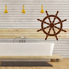 ships wheel nautical sailing bathroom wall sticker bathroom home ships wheel nautical sailing bathroom wall sticker bathroom home decor art decal