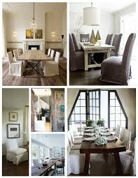 furniture dining room design ideas with parson chair covers
