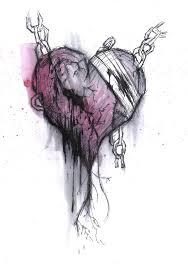 drawn broken heart heartbreak pencil and in color drawn broken