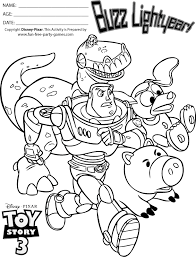 story 3 coloring pages buzz lightyear company rescue