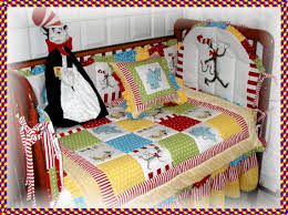Cat In The Hat Crib Bedding Set Dr Seuss Cat In The Hat Fabric Crib Bedding Set With Horton