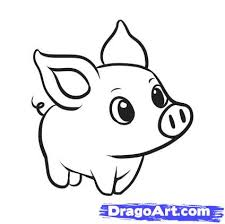 easy outlines of animals how to draw a simple pig step by step farm animals animals