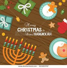 merry happy hanukkah celebration vector stock vector