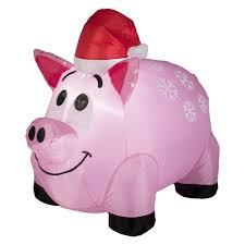 trim a home airblown pig lawn decoration 4 u0027
