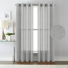 Light Grey Sheer Curtains Gray And Silver Curtains Drapes You Ll Wayfair
