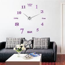 modern art diy analog large wall clock 3d sticker design home