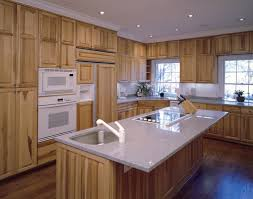 Hickory Kitchen Cabinets Spectacular Hickory Wood Cabinets Kitchens With Green Kitchen