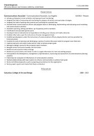 communications associate resume sample velvet jobs