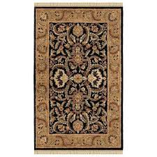 Black Gold Rug 4 X 6 Area Rugs Rugs The Home Depot